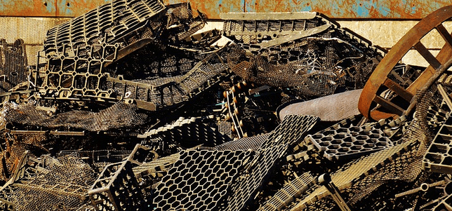 Scrap metal to be sold for profit.